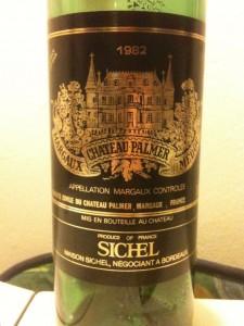Sichel, Chateau Palmer, Margaux, venstre bred