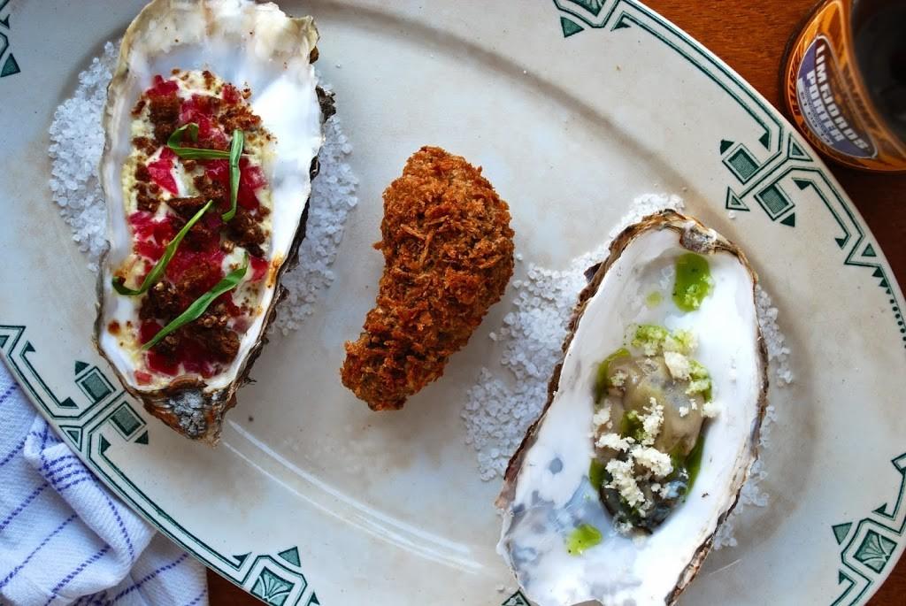 Tre slags østers: Rå, friteret og gratineret