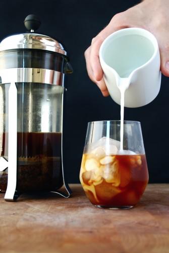 Iskaffe lavet på koldbrygget kaffe