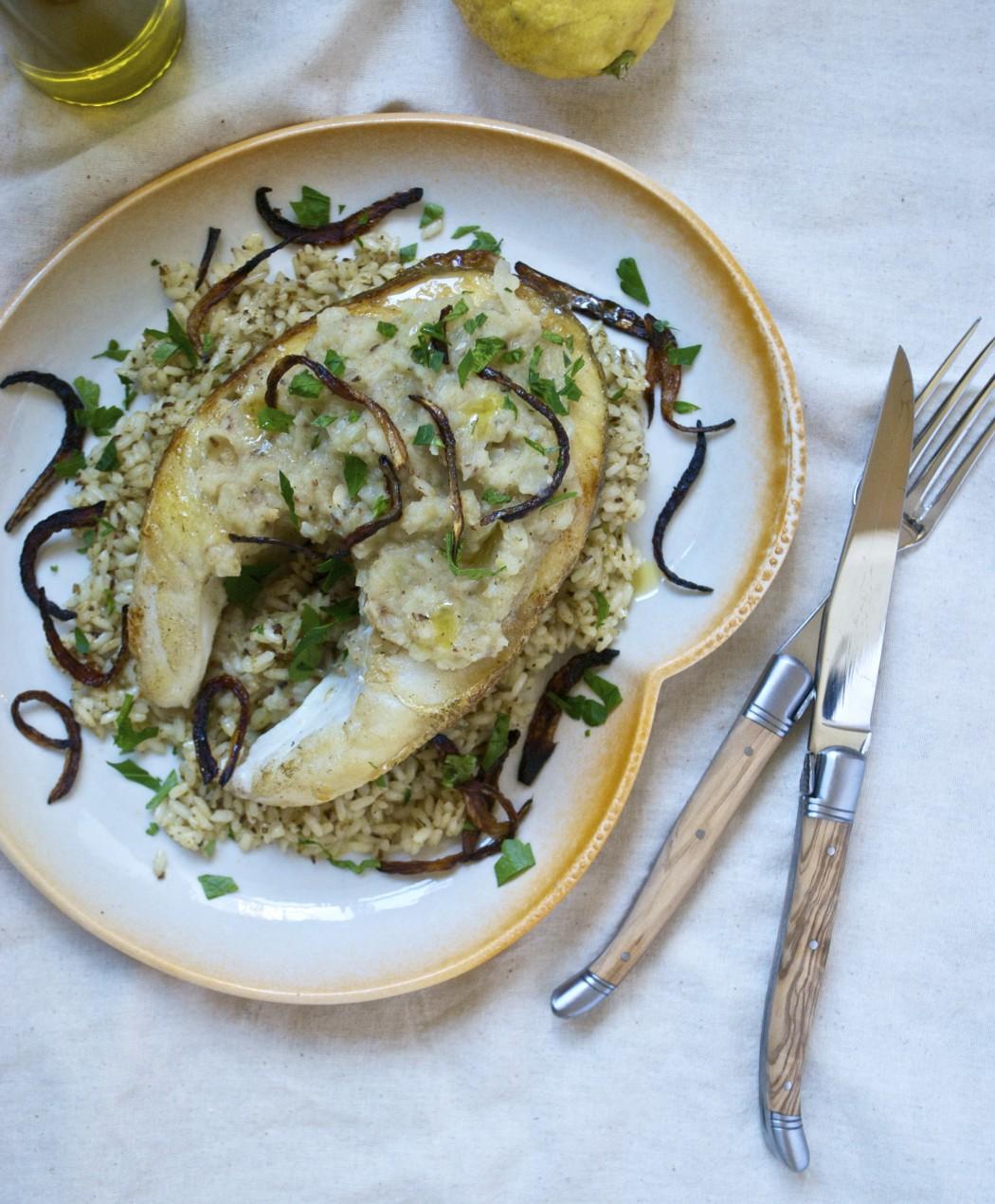 Sayadieh – arabisk torsk med løgpuré