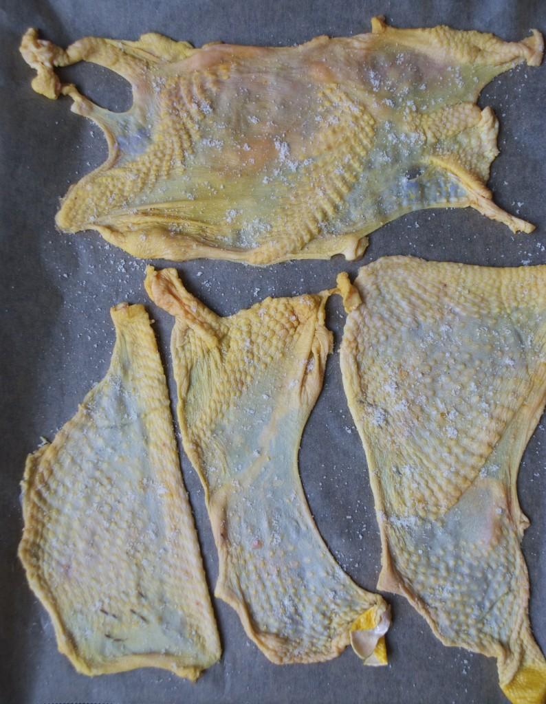 Sprødt kyllingskind kan bruges til mange ting så som kyllingeskind eller tarteletter