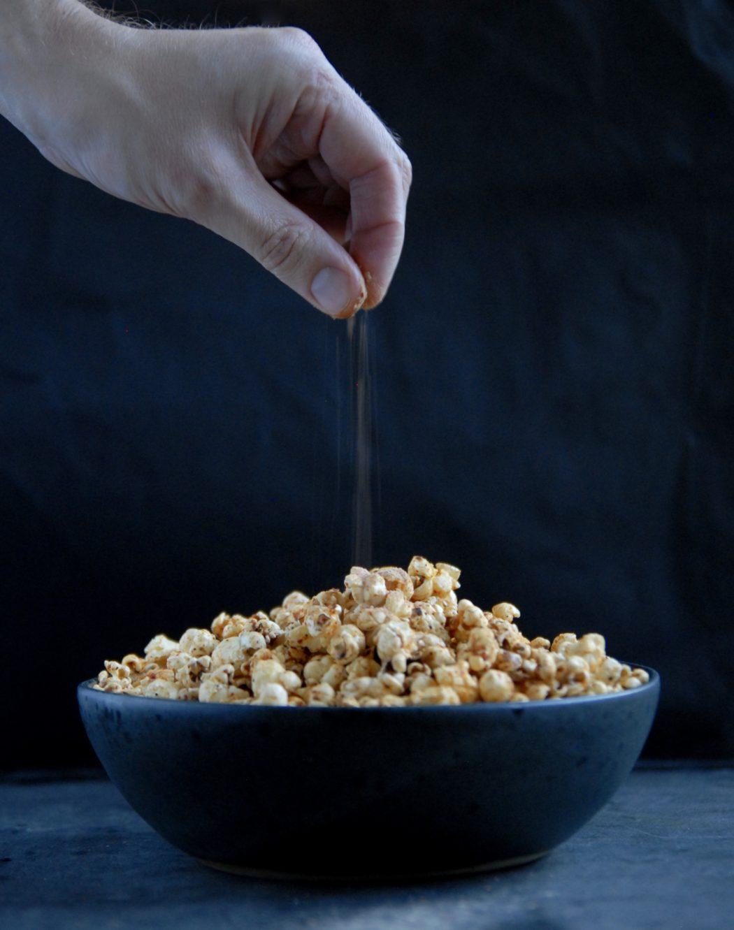 Popcorn med chili- og ostesmag 1